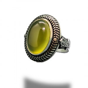 HoneyColor Stone Silver Ring