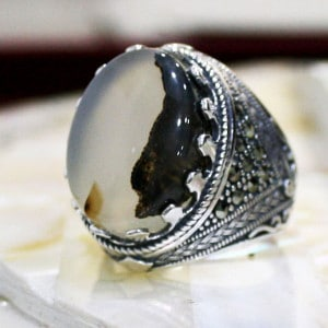 Glass Mode Silver Ring
